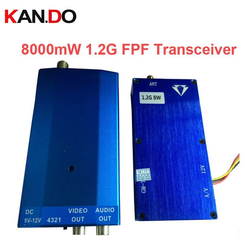 Transceptor cctv inalámbrico 8W 1,2G para transmisión de transmisor de audio y vídeo cctv transmisor FPV transmisor AV Transmisor de vídeo
