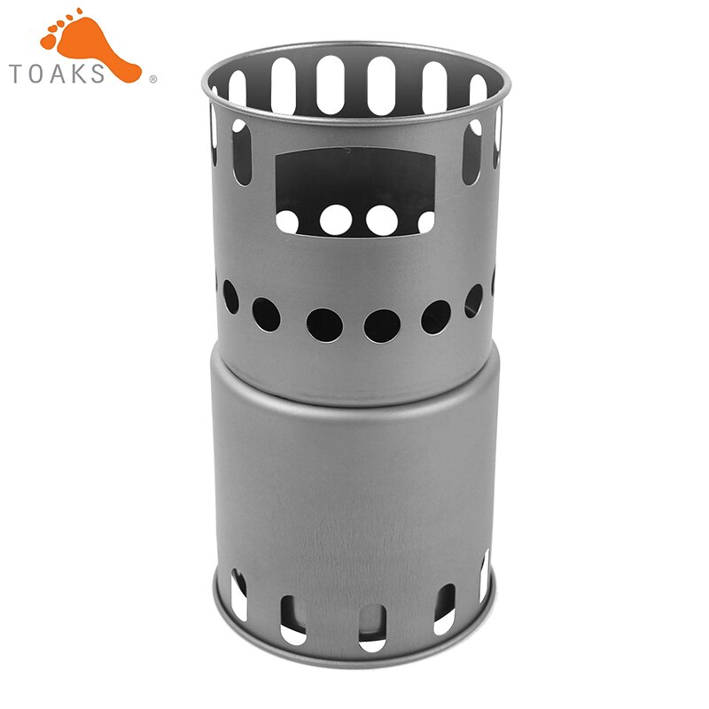 TOAKS Backpacking estufa de madera de titanio tamaño pequeño STV-12 estufa de leña de titanio ultraligera portátil sólo 151g