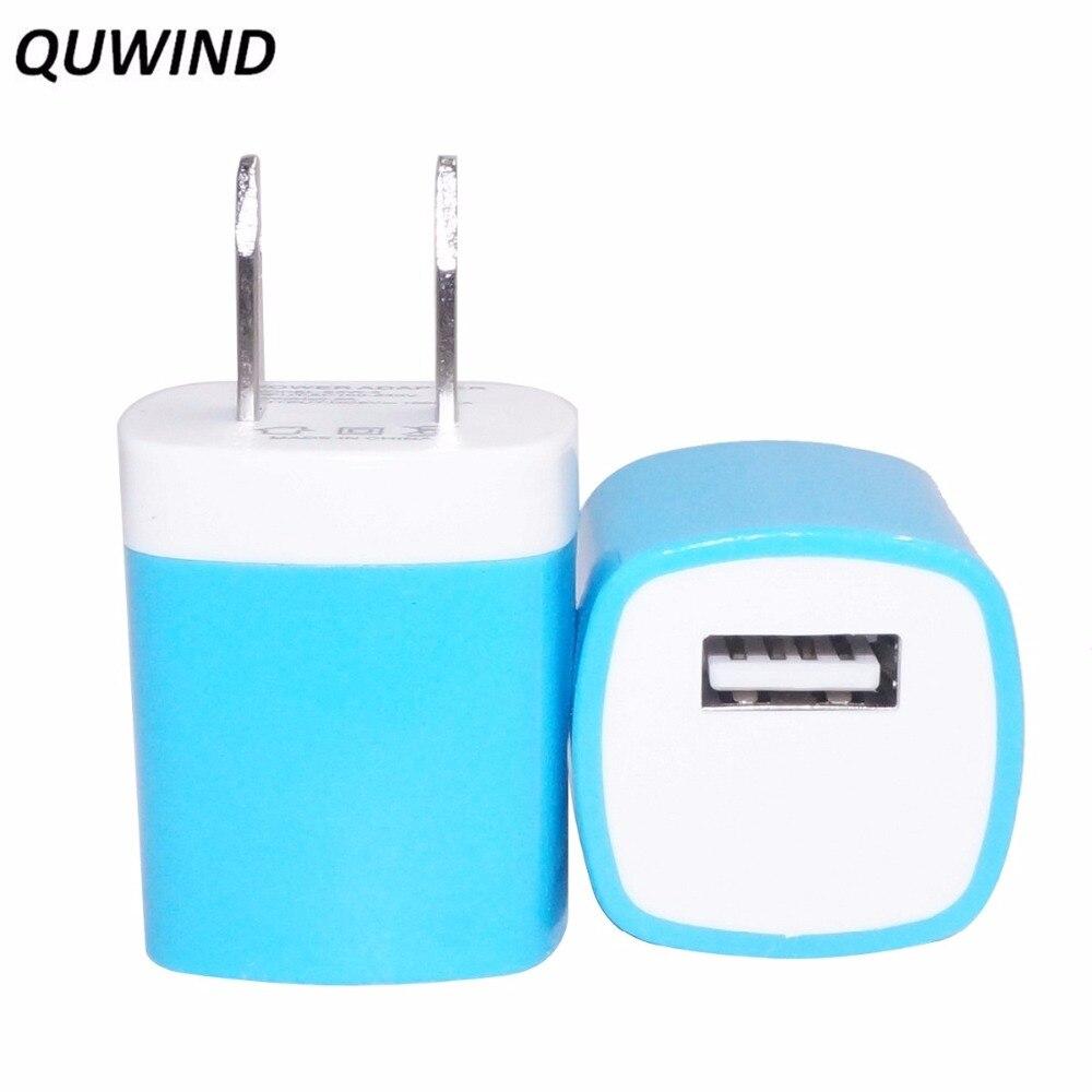 QUWIND 1A USA enchufe USB cargador de pared cargador de viaje para iPhone 5 6 s 7 Samsung S 5 6 7