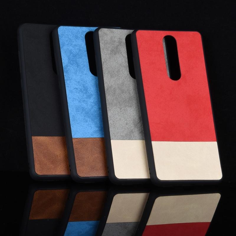 Para Nokia 5,1 de lujo de cuero PU + TPU material Patrón de costura cubierta trasera suave para Nokia 5,1 funda