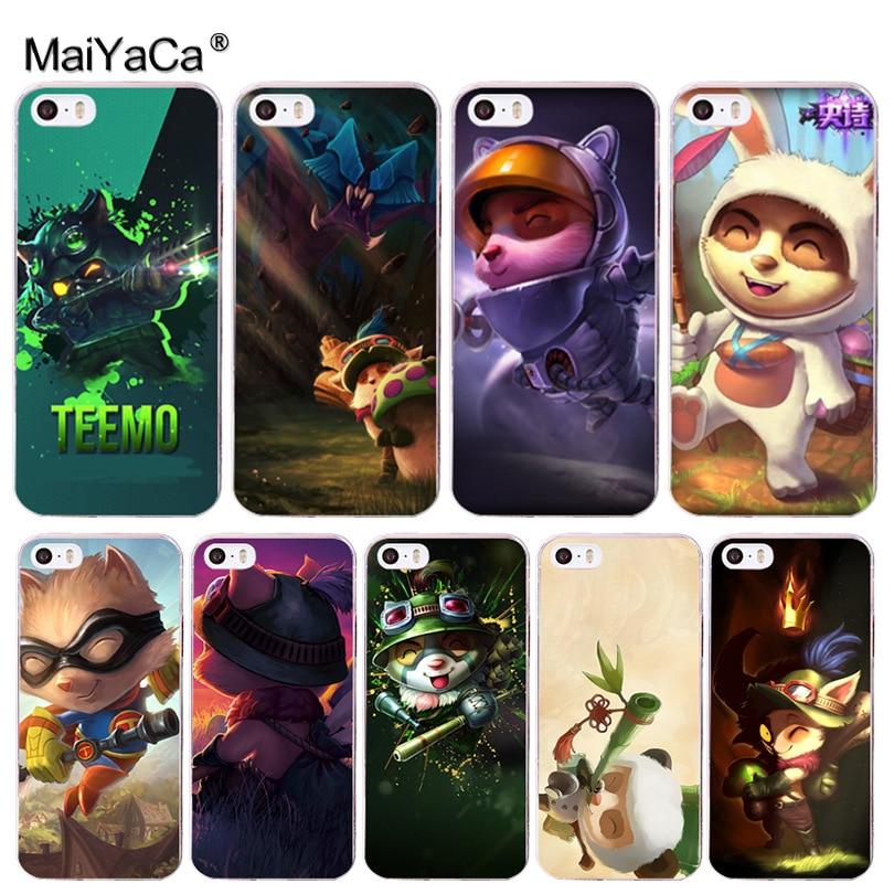 MaiYaCa LOL Liga de Leyendas TIMO diversión de moda del teléfono caso para iphone 11 pro 8 7 66S Plus X 10 5S SE XR XS MAX cubierta