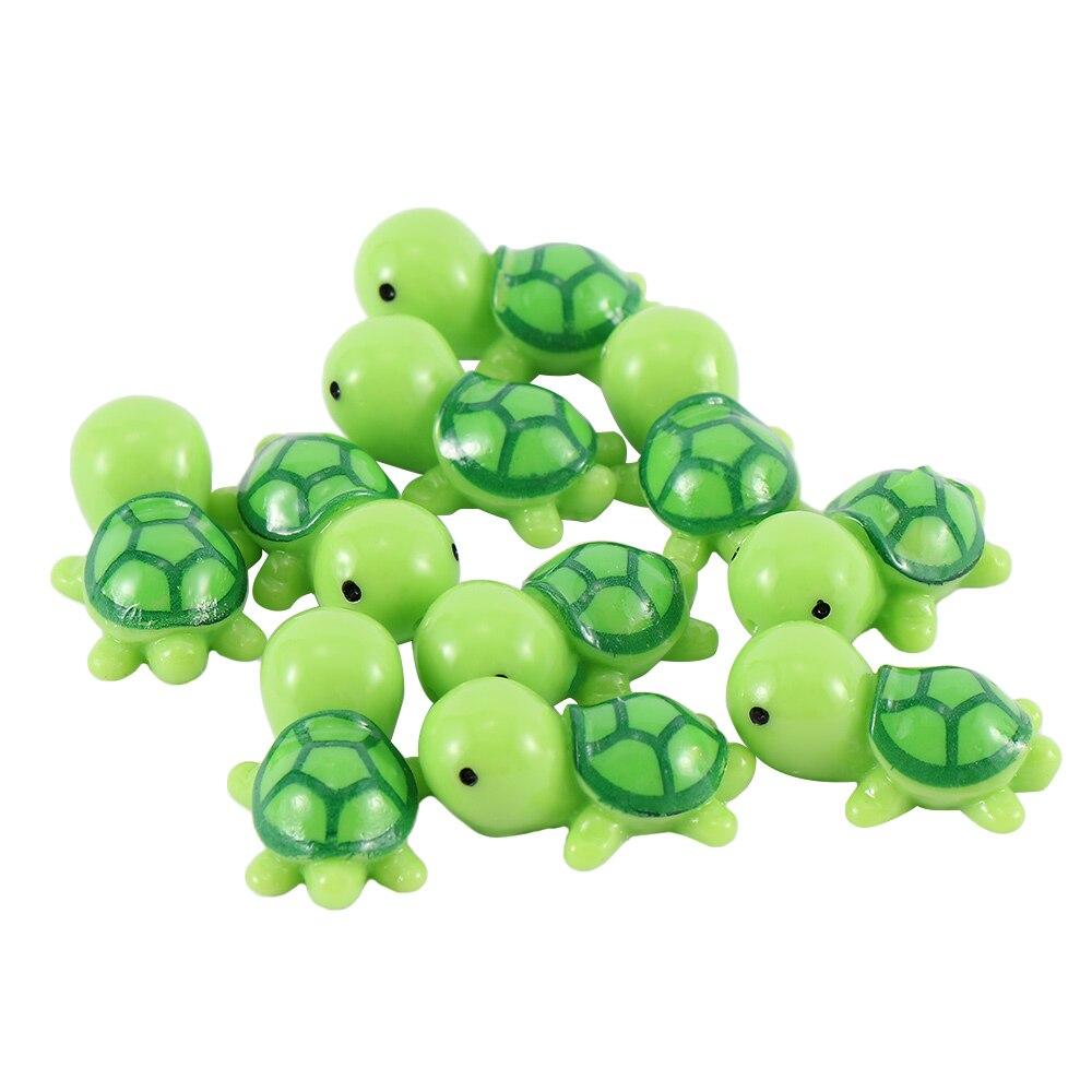10 Pcs Mini Schildkröte Miniatur Figuren Puppenhaus Bonsai Garten Micro Landschaft Decor fee garten miniaturen