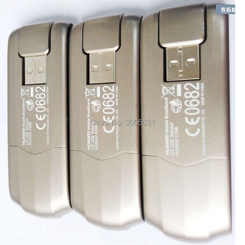 Frete grátis dhl + huwei e398 E398u-1 100mbps 4g lte usb modem cartão de dados sem fio usb vara