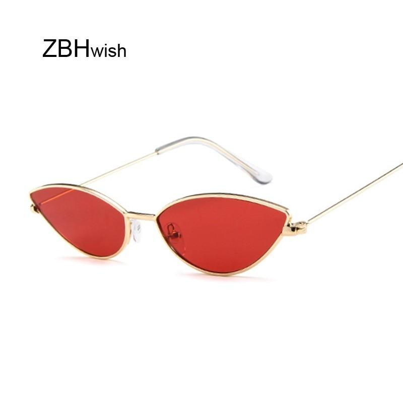 Cute Sexy Cat Eye Sunglasses Women Retro Small Black Red Pink Cateye Sun Glasses Female Vintage Shad