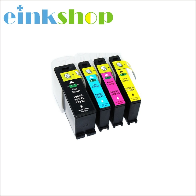 Einkshop cartucho de tinta para Lexmark 100 100 xl 105 xl 108 xl para lexmark S305 S405 S505 S605 Pro205 Pro705 Pro805 impresora