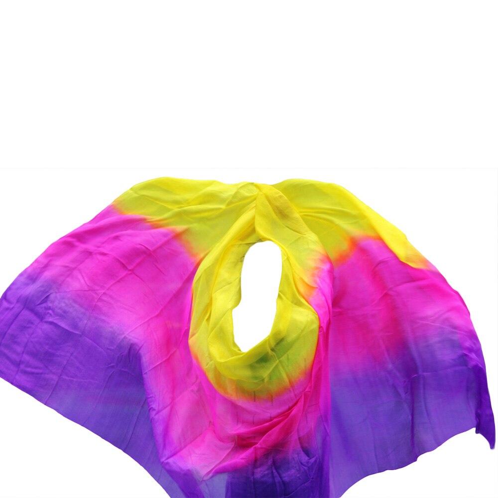 Дизайн 100% натуральный шелк танец живота вуаль сценическое представление танцевальная одежда аксессуары вуаль оптом размер и цвет можно по...