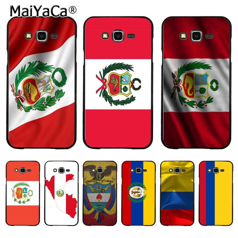 MaiYaCa Перу Колумбия флаги Новое поступление аксессуары для телефона чехол для samsung j7 j2pro j6 j4 j8 note9 s10plus s10lite чехол coque