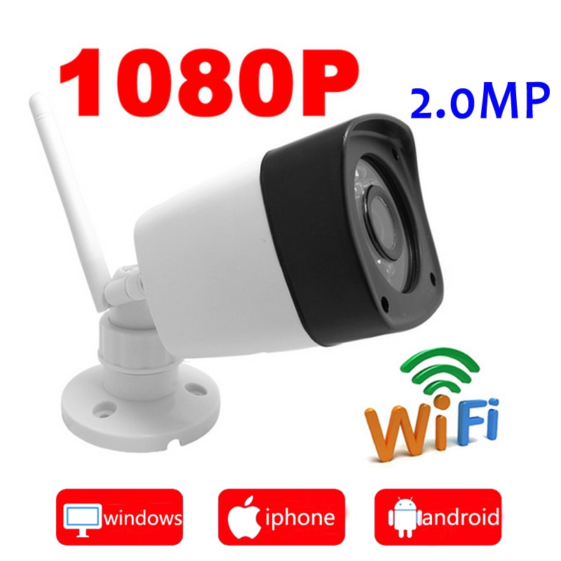 Cámara ip wifi 1080P sistema de vigilancia cctv al aire libre cámara de seguridad impermeable inalámbrica mini ipcam infrarrojo hogar wi-fi JIENU