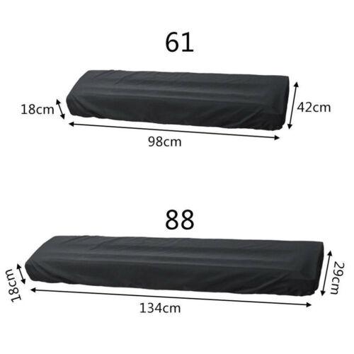 Dust-proof cover for waterproof adjustable piano keyboard for 61/88-key keyboard