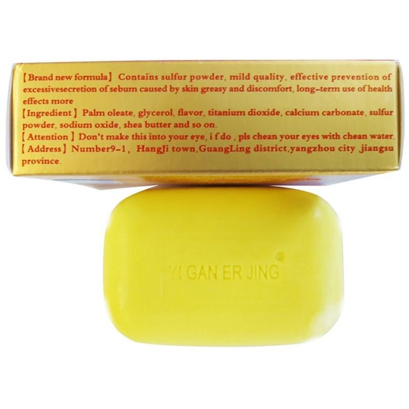 Купить с кэшбэком New Arrival 2019 Sulfur Soap Skin Conditions Adjustment Acne Psoriasis Seborrhea Eczema Anti Fungus Bath whitening Plaster