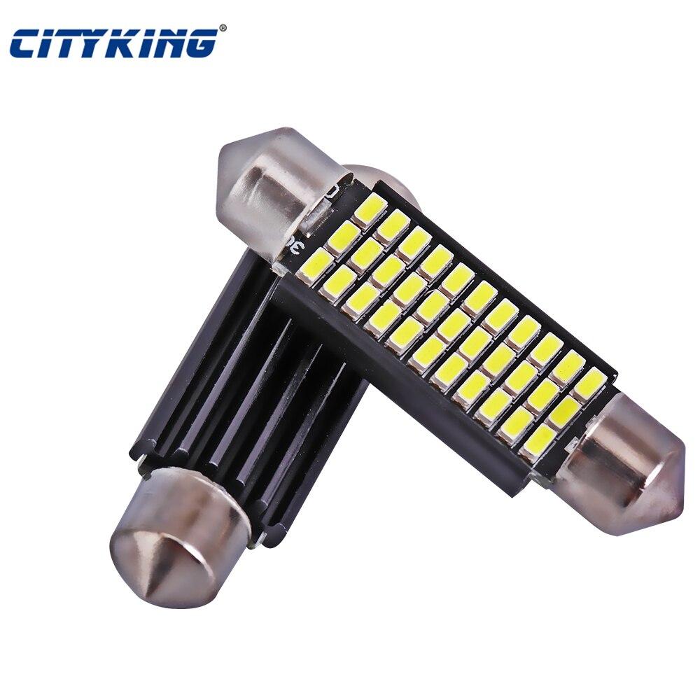 100 x led festão 41mmno erro led 3014 33smd festão 42mm led carro dome luz de leitura auto lâmpada led carro fonte