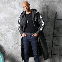 Manteau de pluie Portable noir pour YFGXBHMX   Vêtement dextérieur pour homme, Poncho imperméable pour une personne, avec chapeau, équipement de pluie