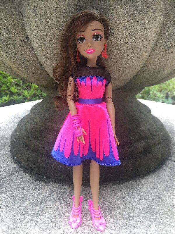 """Figuras de acción de los descendientes de Disney, Bola de luces de neón, 11 """"/28cm, Audrey Auradon Prep, muñecos de juguete, nuevo, suelto"""