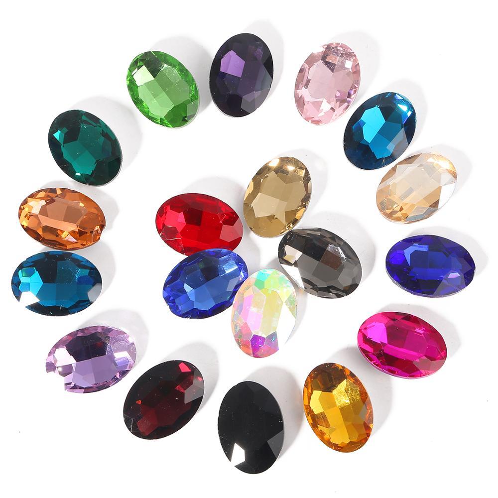 Colle à points en verre de cristal 6x8mm, 50 pièces, blanc, noir, rouge, bleu, vert, violet, pâte à paillettes de bricolage