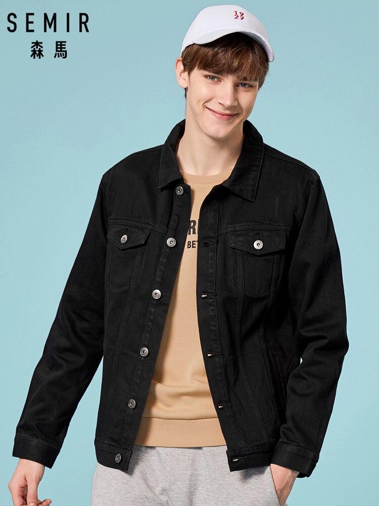 SEMIR Denim Jacket Men Washed Denim Jacket Classic coat Collar for Men Casual Fashion Spring Autumn Clothes for outwear