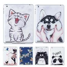 Funda trasera de gato pintado Kawaii para cachorros funda para Samsung Galaxy Tab E 9,6 T560 SM-T560, funda de tableta de TPU suave para Samsung Tab E