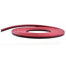 Câble plat noir et rouge de Double ligne 2pin 2*0.5mm UL2468 pour léclairage de LED
