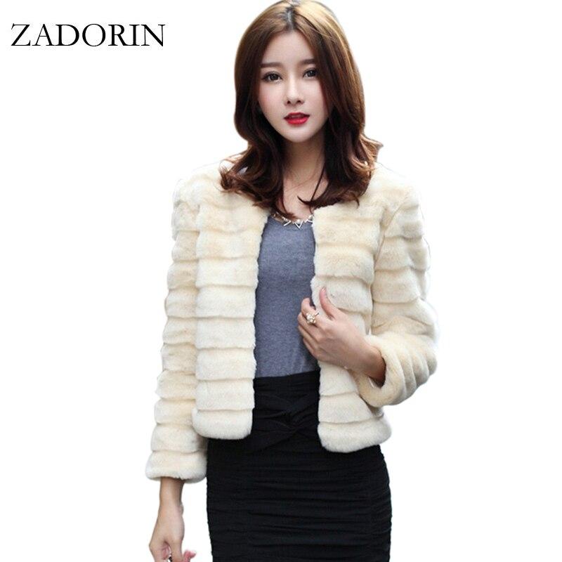 ZADORIN otoño moda mujer chaqueta de piel falsa elegante abrigo de piel...