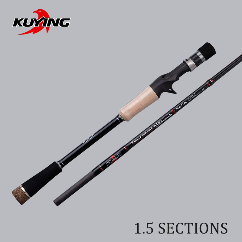 KUYING Tournament 1.77m 2.16m 1.5 Sections Super Hard XH Carbon Casting Fishing Rod Medium Fast Action Fish Pole For Snakehead enlarge