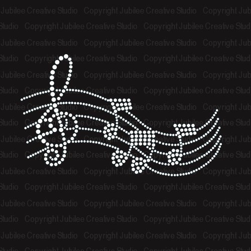 2 pc/lote Melodia Da Música Ferro Em Strass Cristal hot fix rhinestone motivo iron on transfers motif transferência na camisa do projeto