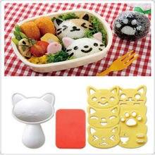 Hohe qualität 4 teile/satz PP Kawaii Katze Reis Mold Sushi Ei Schokolade DIY Küche Werkzeug cartoon sushi werkzeug