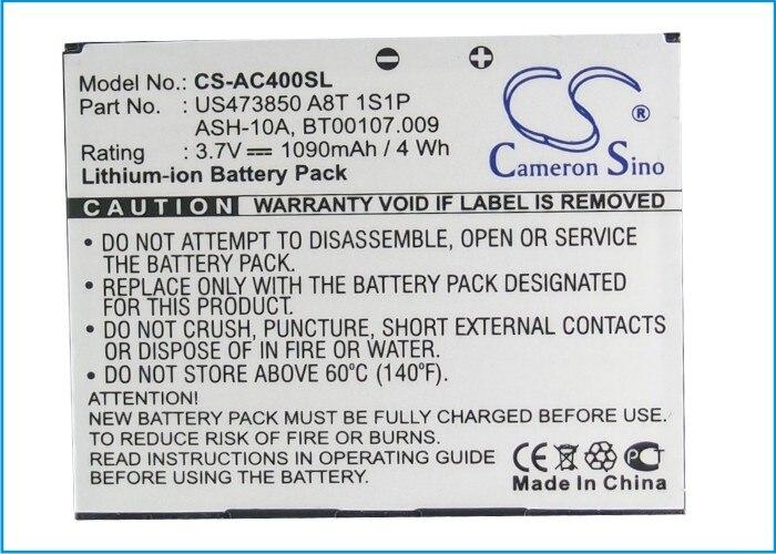 Высококачественный аккумулятор Cameron Sino, BT00107.008, BT00107.009, для Acer beTouch E400, beTouch E400B, neoTouch P400