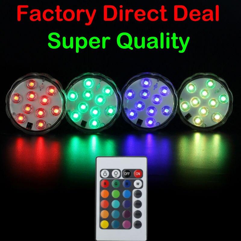 Новый Погружной светодиодный светильник с дистанционным управлением, многоцветный 10led Ночной светильник для свадебной вечеринки, водонепр...