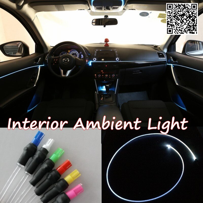 For Renault Kadjar 2015 Car Interior Ambient Light Panel illumination For Car Inside Tuning Cool Strip Light Optic Fiber Band