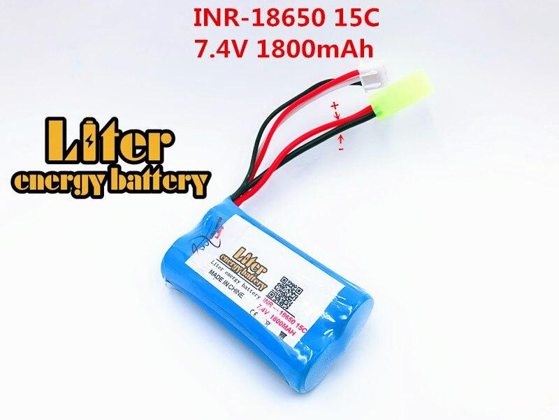 Energia da Bateria de Lítio Bateria para Helicóptero de Controle 18650 Remoto 7.4 v 1800 Mah 15c