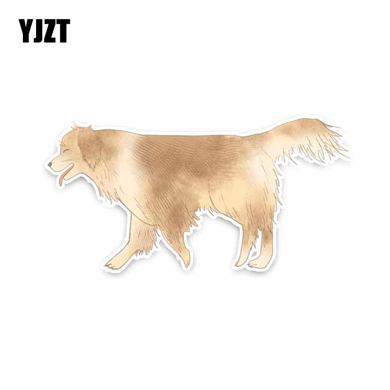 YJZT 15CM*7.4CM Personalized Animal Dog PVC Car Sticker Decals Accessories 5-1903