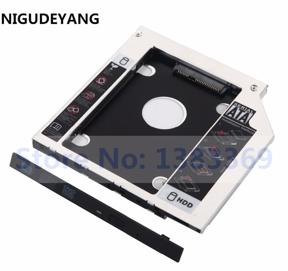 NIGUDEYANG 2nd SATA HDD SSD Hard Drive Quadro Adapter Caddy para hp probook 445 450 g0 g1 g2 swap su208gb dvd estranho