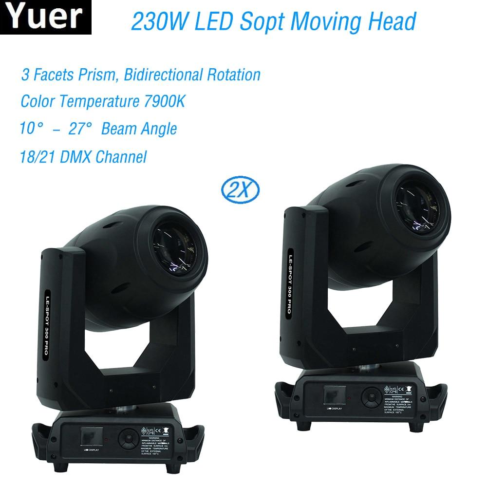 2Pcs/Lot High brightness DMX 512 Control 230W LED Spot Strobe Moving Head Stage DJ Disco Vocal concert Bar LED Moving Head Light