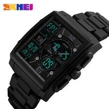 SKMEI Männer Mode Uhren Countdown Chronograph Alarm Sport Uhr Watwrproof EL Licht Digitale Armbanduhren Relogio Masculino