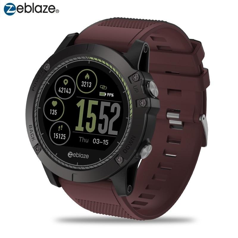 IP67 Waterproof Smartwatch Original Zeblaze VIBE 3 HR Smart Watch Bluetooth 4.0 All-day Activity Tracking Multiple Languages