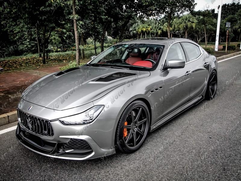 Accesorios de coche FRP fibra de vidrio estilo ASP capó ajuste para 2014-2016 Maserati Ghibli cubierta del capó