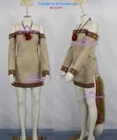 spice and wolf holo cosplay costume include the big fur tail and hair accessory acgcosplay