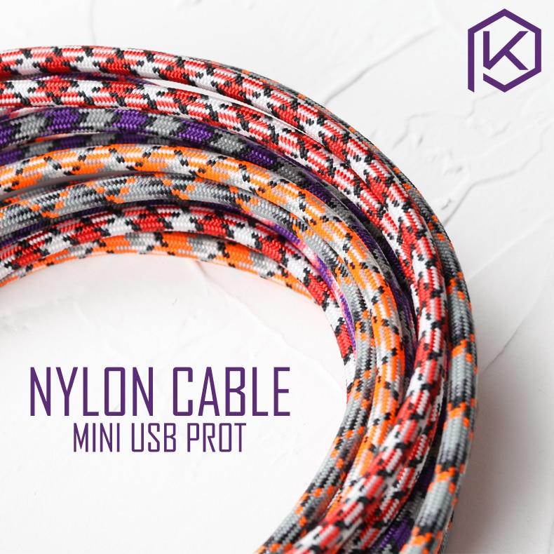 Nylon Kabel draht Mechanische Tastatur GH60 USB kabel mini USB port für poker 2 GH60 xd64 xd84 xd96 tada68 tastatur kit DIY 1,2 m