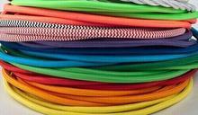 Lot de 60 mètres/lot de câbles électriques   Tissu textile de style industriel couleur noire revêtu de fil de cuivre, livraison gratuite par DHL/Fedex/UPS