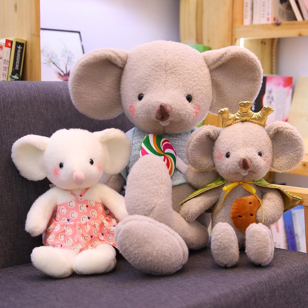 40 ~ 120cm, bonita y creativa galleta, piruleta, ratón de peluche, juguete de hámster de trapo, muñeca de ratón grande coreana para niños, regalo de cumpleaños de niña