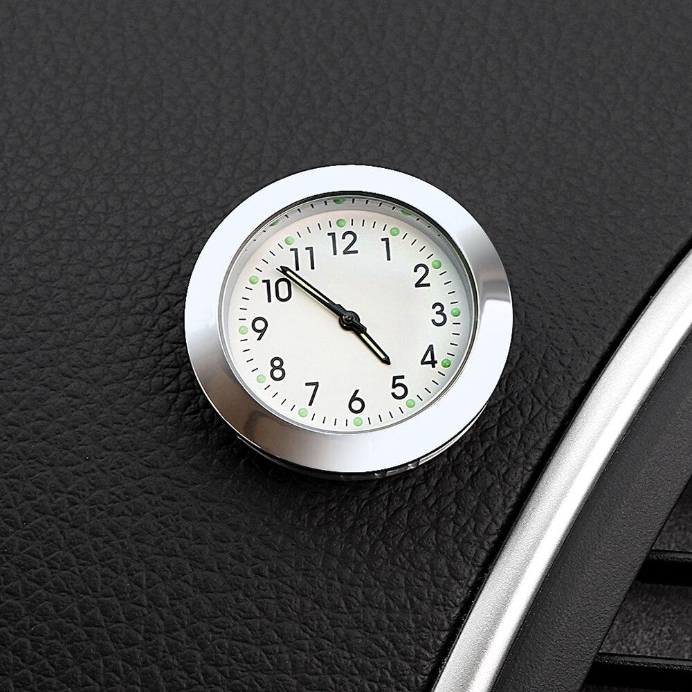 Автомобильные часы орнамент электронные наклеенные часы время липкий Автомобильный интерьер приборной панели украшения приклеиваемые часы аксессуары Подарки