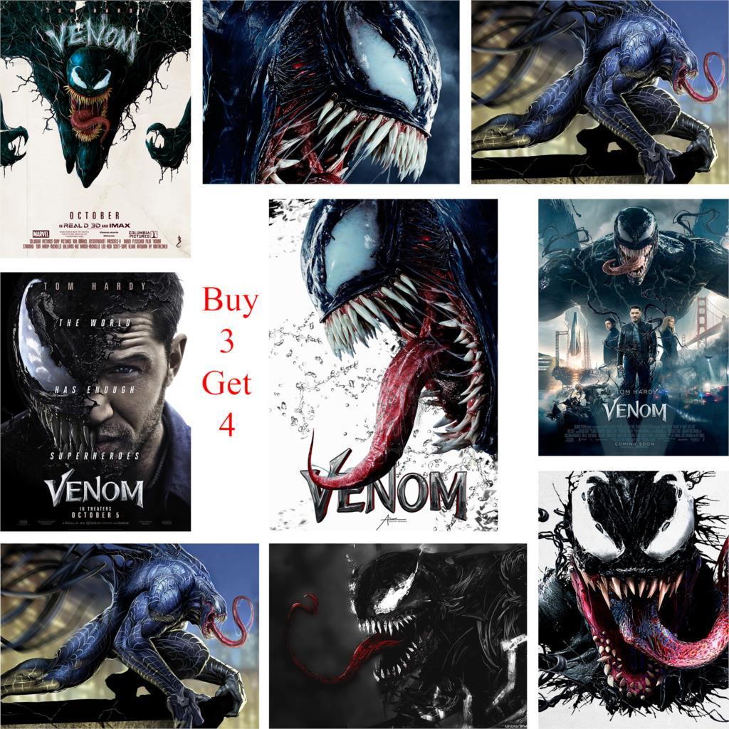 Carteles de Venom, impresiones de papel brillante, decoración del hogar, pegatinas de pared HD, marca de arte para el hogar