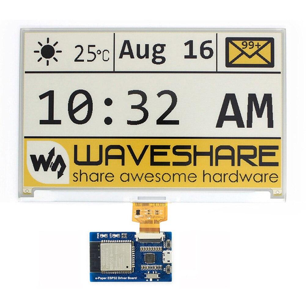 SPI E-Pape ESP32 קל משקל WIFI נהג לוח אוניברסלי Waveshare אלחוטי גלם פנלים דיו מסך Bluetooth אינטרנט קל שימוש