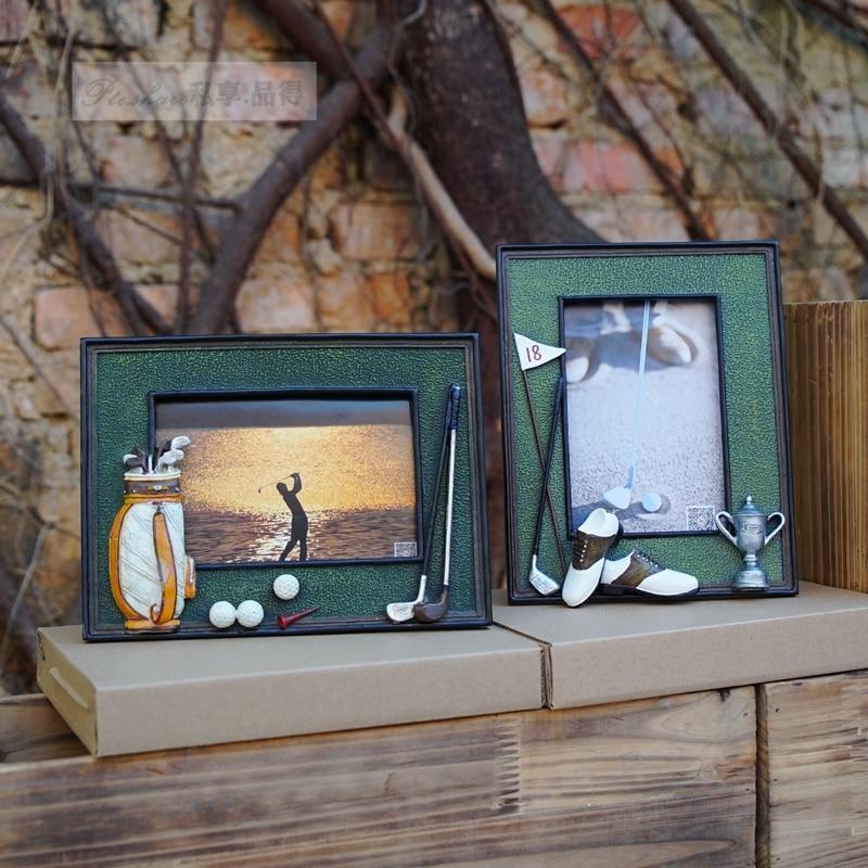 Pelota de Golf bolsa de 3D resina memorial artesanía personalizado suave columpios foto regalo de cumpleaños de Marco Premio juego club regalo
