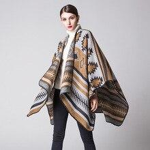 Bufanda manta de Invierno para mujer, Poncho Vintage, manta de Cachemira, Fular, golondrina de otoño que contiene echarpes foulards Wraps