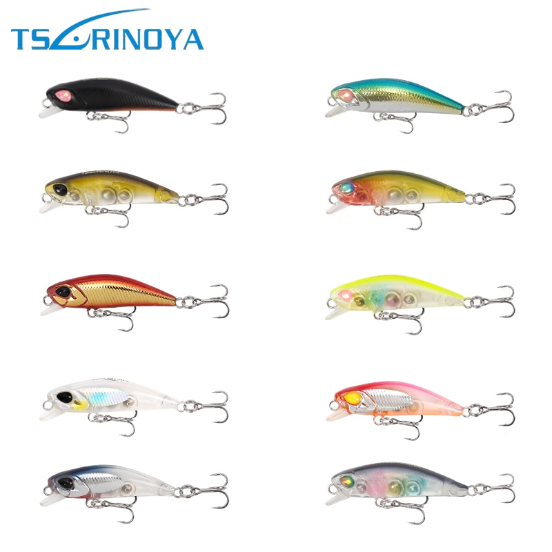 Tsurinoya 10 unids/lote DW29 42mm/2,8g Minnow Señuelos de Pesca de trucha Swimbait Isca carpa Artificial cebo de pesca duro