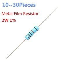 10 ~ 30 pièces 680 ohm 2 W 1% résistance axiale à Film métallique à immersion radiale 680ohm 2 W résistances