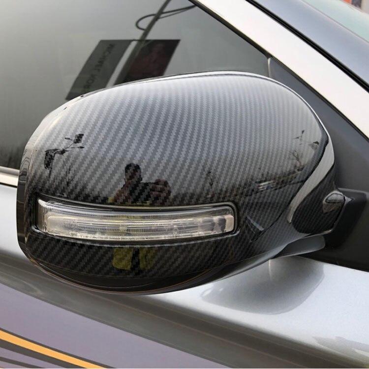 Für Mitsubishi ASX 2010-2019 2 teile/satz Auto Seite Spiegel Carbon faser/ABS rückspiegel Abdeckung Außen auto styling Zubehör
