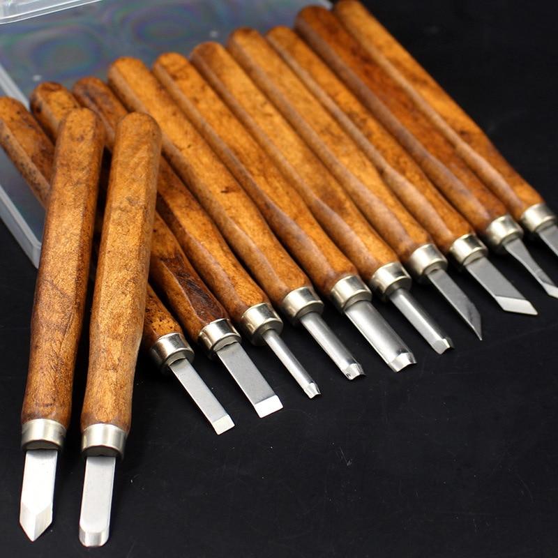 Набор инструментов для резьбы по дереву из углеродистой стали, набор ножей, штукатурка, инструмент для резьбы по керамической Глине, резино...
