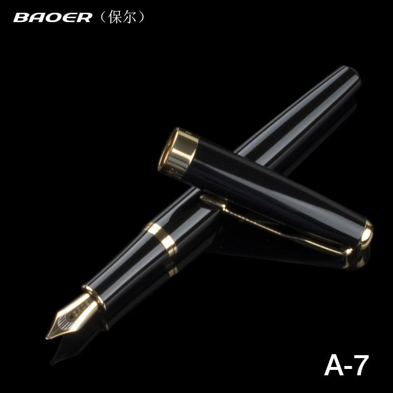 Фото - Baoer 388 Fine Nib 0.5mm Fountain Pen for Finance Luxury Metal Ink Pens Office Supplies School Supplies Birthday Gift rescue ink rescue ink