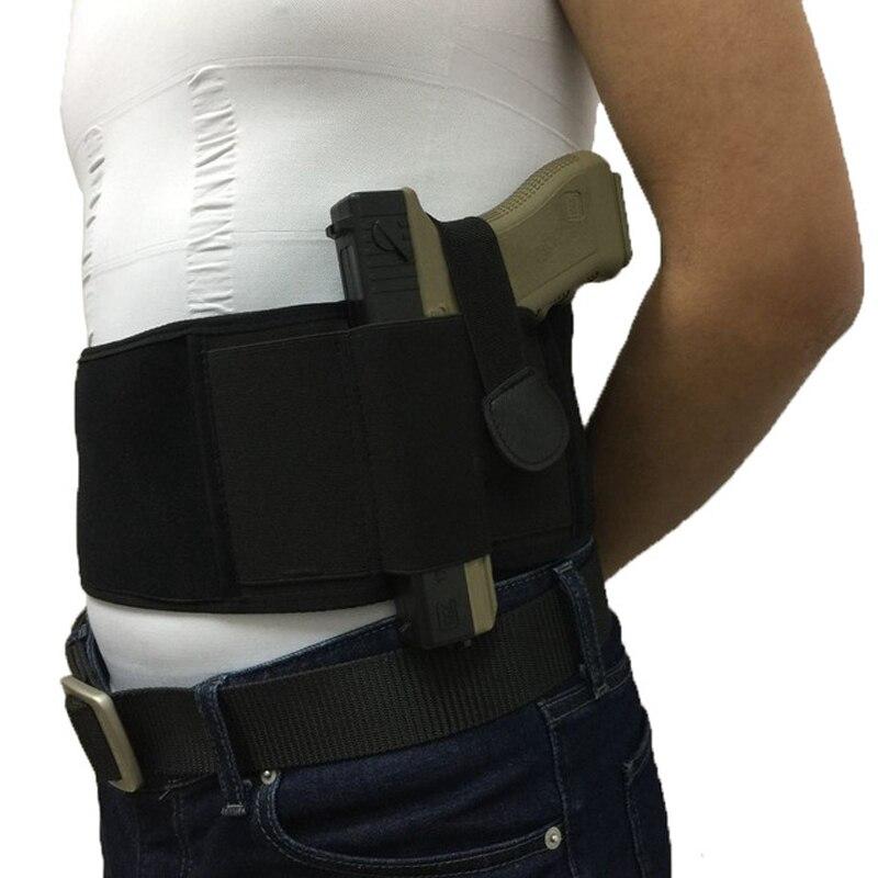 Pistolera táctica Universal de bandas abdominales derecha/izquierda para la serie Glock 17 19 22 y la mayoría de pistolas 3 en 1 Combo